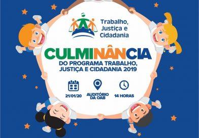 AMATRA 19 realiza culminância do Programa Trabalho, Justiça e Cidadania em 21 de janeiro de 2020