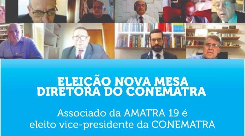 Associado da AMATRA 19 é eleito vice-presidente da CONEMATRA