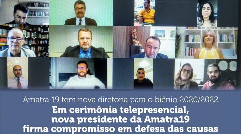 Amatra 19 tem nova diretoria para o biênio 2020/2022
