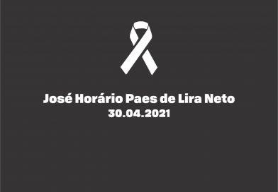 Nota de pesar: José Horário Paes de Lira Neto